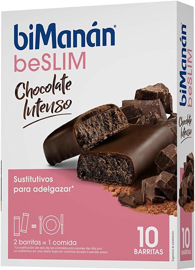 BiManán beSLIM - Barritas Sustitutivas Chocolate Intenso, para Control de Peso - Caja de 10 unidades