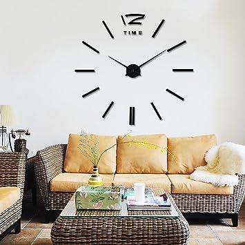 Große DIY Wanduhren Wohnzimmer Tisch Kreative Uhren Moderne Uhr Euro ...