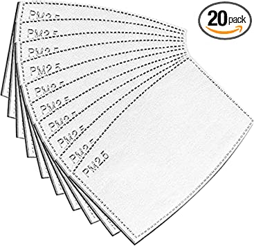 WDNMD Child PM2.5 Activated Carbon Filter Replaceable Anti Haze Filter Paper for Seamless Face Bandana//Face Shield 100PC