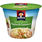 Quaker Instant Oatmeal Express Cup, Apples & Cinnamon, Breakfast Cereal