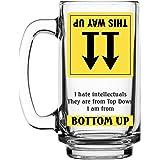 Ek Do Dhai Bottoms Up Beer Mug, 360ml, Multicolour (BUBM)