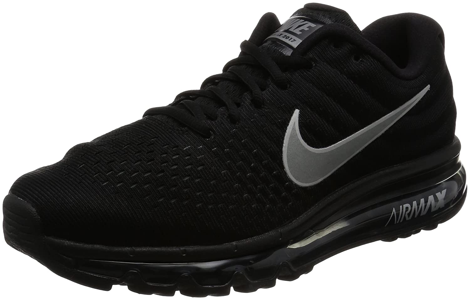 buy popular 31194 89727 Amazon.com   NIKE AIR MAX 2017 BLACK MENS RUNNING SHOES SNEAKERS Size  7    Road Running