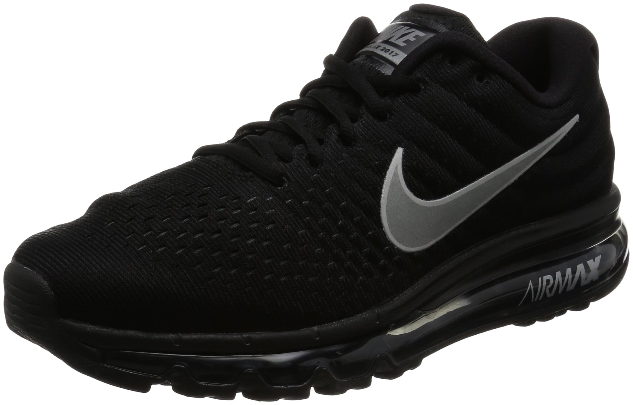 half off 637a9 f66de Galleon - Nike Mens Air Max 2017 Running Shoes Black White Anthracite  849559-001 Size 8.5