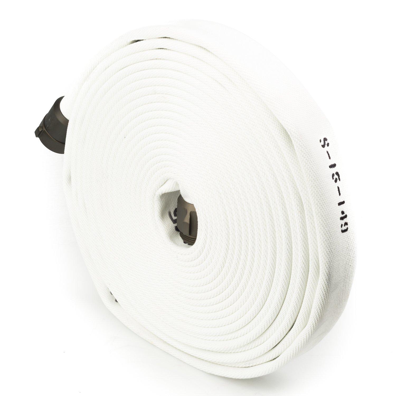 White 1.5'' x 100' Single Jacket Hose (Alum NPSH Couplings)