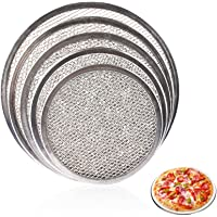 LIANGZHILIAN Pizza Pan for Oven Aluminum Alloy Round Pizza Tray Pizza Crisper Pan with Holes Pizza Baking Tray Bakeware for Home Restaurant Kitchen