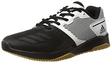 adidas Men's Gym Warrior 2 Gymnastics Shoes, White (Ftwr WhiteCore Black
