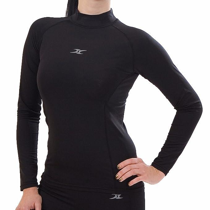 d37aecb46f Camiseta manga larga térmica con cuello alto para mujer