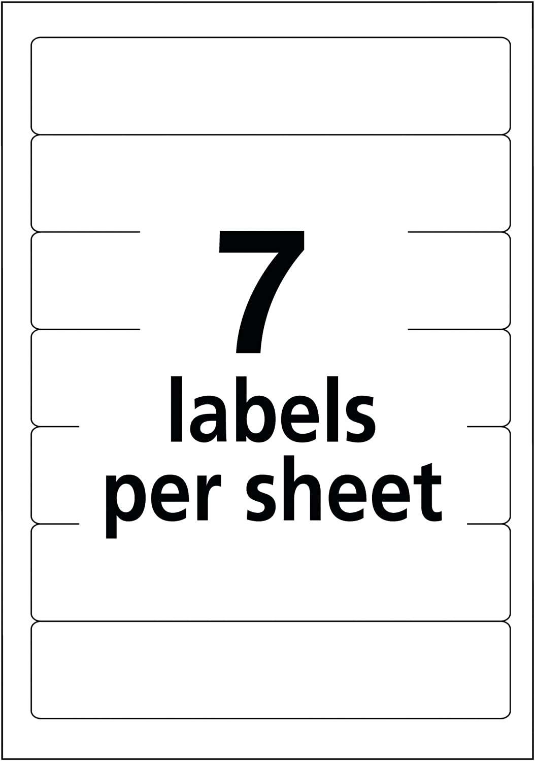 "Avery Print or Write File Folder Labels for Laser and Inkjet Printers, 1/3 Cut, Purple, Pack of 252 (5204), 5/8"" x 3 1/2"" : File Folder Labels Purple : Office Products"