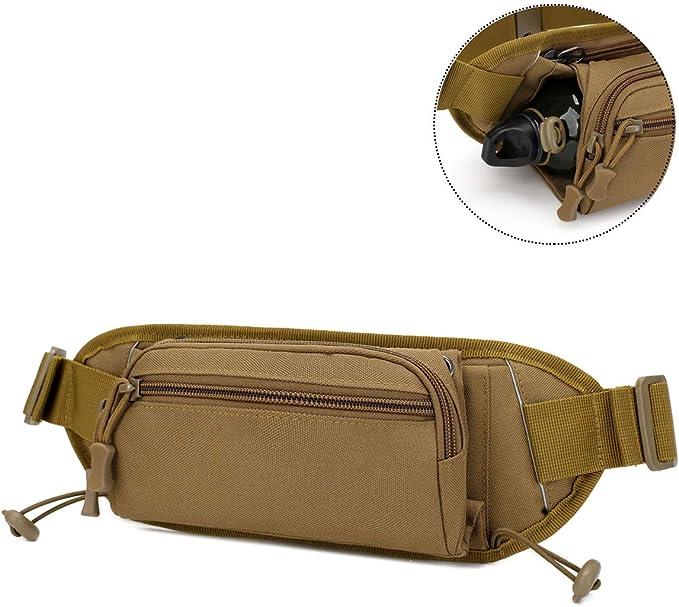 Huntvp Bolsa de Riñonera Táctico Mochila de Bandolera Estilo Militar Táctical Bolsa de Múltiple Función Impermeable para Aire Libre Correr Senderismo