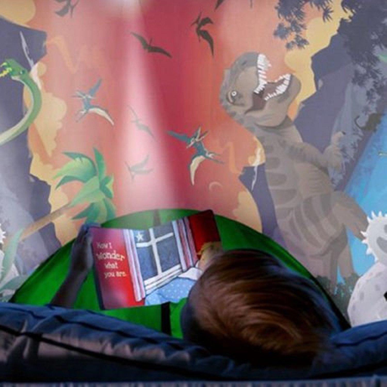 Dream Tents Magical World Carpa de Ensueño Wizard World Children Play Cama Tienda de Campaña Para Niños Fantasy House (Parque de los dinosaurios)