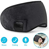 dodocool Bluetooth Sleep Eye mask, Wireless Sleeping Headphones, Eye Mask for Sleeping Music Travel Headphones Headset with MIC, Long Play Time iPhone, Android Cell Phones, iPad, Tablets