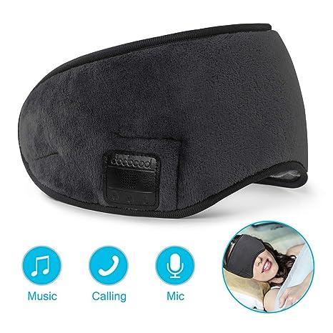 dodocool Bluetooth Sleep Eye mask, Wireless Sleeping Headphones, Eye Mask  for Sleeping Music Travel Headphones Headset with MIC, Long Play Time