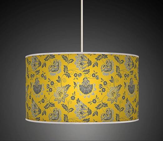 Pantalla de tela para lámpara, con estampado floral, color ...