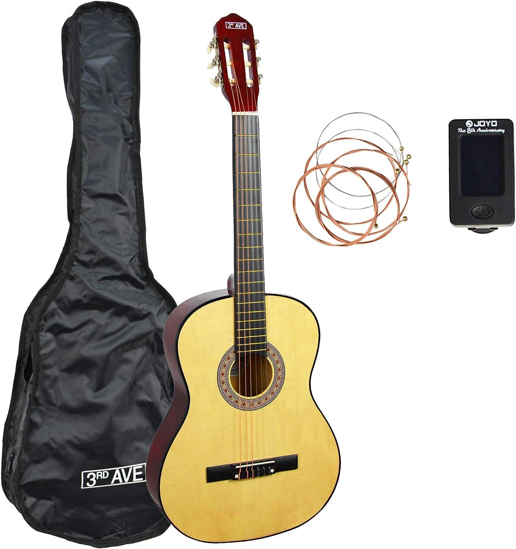 3rd Avenue Paquete de guitarra, Natural, Tamaño completo, Paquete