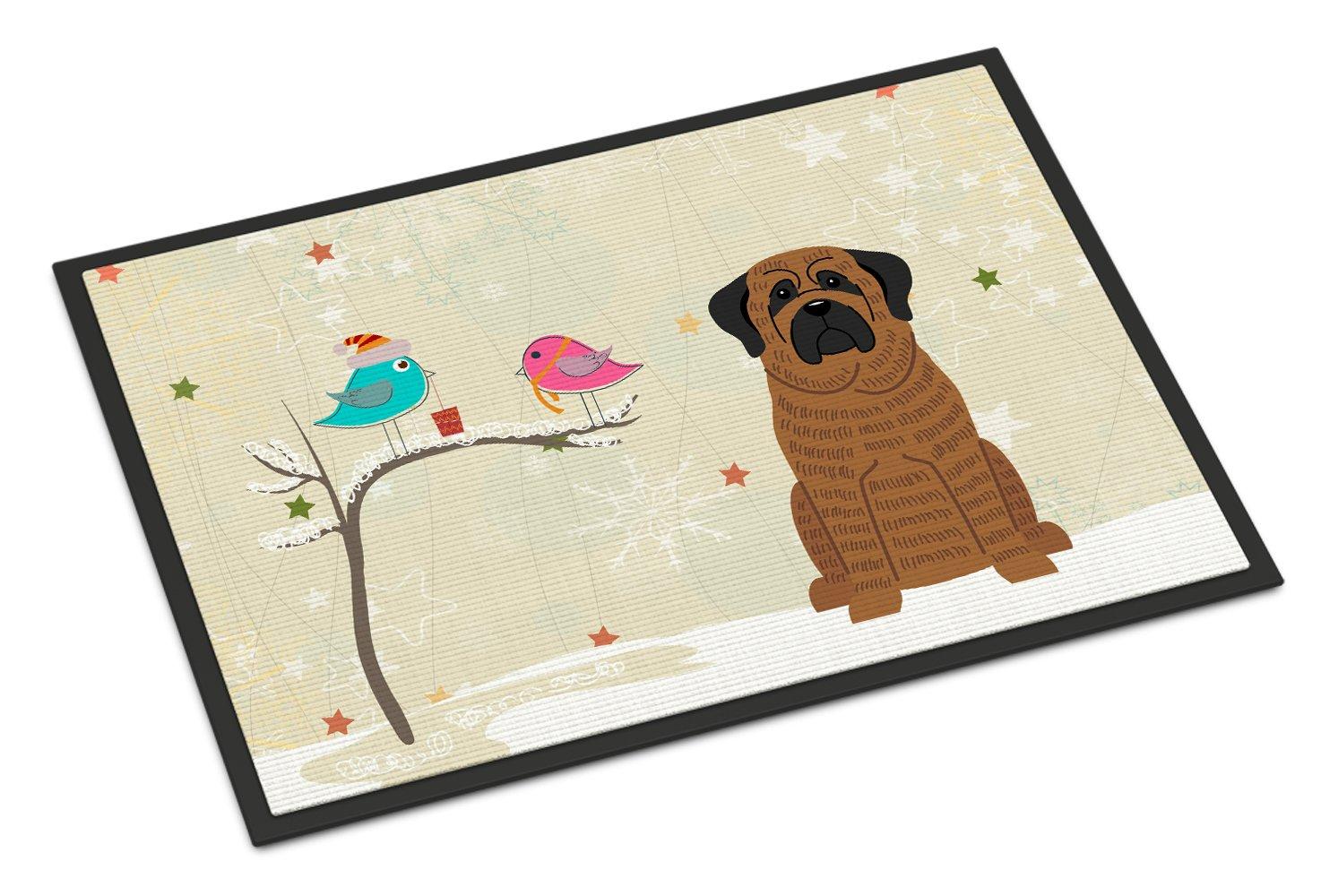 Carolines Treasures Christmas Presents between Friends Mastiff Brindle Indoor or Outdoor Mat 24x36 BB2487JMAT 24 x 36 Multicolor