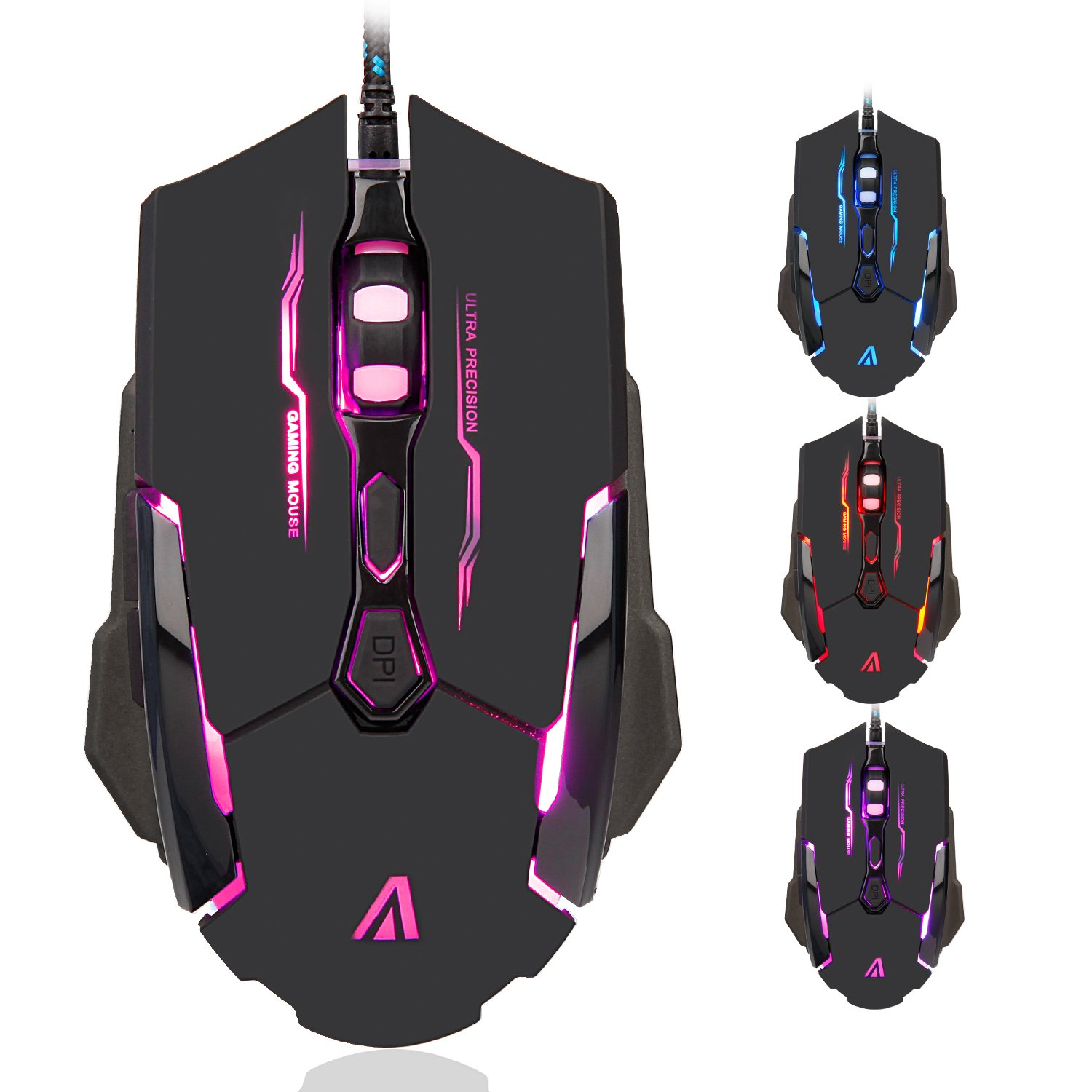 Amazon.com: JAR-OWL A1 Gaming Mouse 6 Buttons 3200 DPI Professional ...