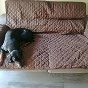 Cabetex Home - Cubre sofá Reversible Bicolor con ajustes - Microfibra Acolchada Antimanchas (Crema/Beige, 2 Plazas)