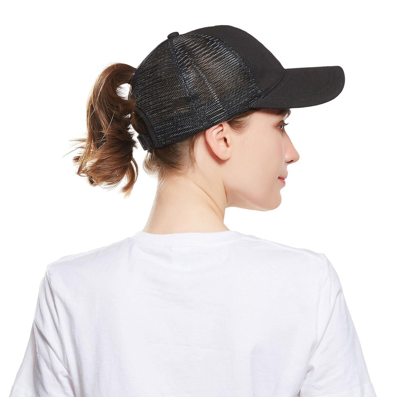 Welrog Pferdeschwanz Baseball Cap für Damen - Mädchen Einstellbar Atmungsaktive Tennis Cap