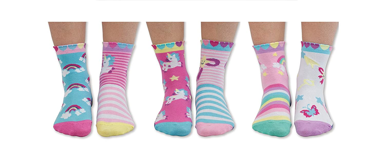 United Oddsocks - Combinado de 6 calcetines para niños no coincidentes, para combinar de forma descoordinada - Tamaño: Eur 27-30.5, Tema: Caracteres ...
