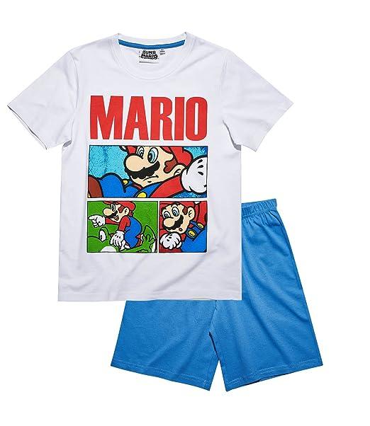 Super Mario Pijama dos piezas - para niño blanco blanco
