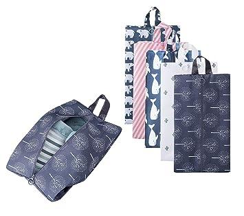 05b85a981 Portátil bolsas de zapatos de viaje multifuncional oxford zapatos  almacenamiento y organización con cierre de cremallera (5 Pack): Amazon.es:  Equipaje
