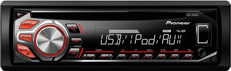 Pioneer DEH-2600Ui Autoradio CD/MP3 Compatible avec iPod USB Noir Car Radio CD