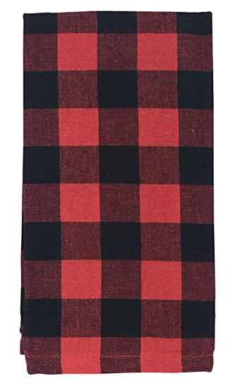 Prime Lintex Red And Black Buffalo Holiday Cottage Check Fabric Napkin Set 100 Cotton Christmas Rustic Buffalo Plaid Napkins Set Of 4 Fabric Napkins Home Interior And Landscaping Ologienasavecom