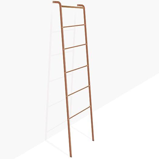 Brightech – Escalera decorativa Mila – Accesorio de metal y madera resistente para interiores y exteriores, jardín, porche, patio, color oro rosa: Amazon.es: Juguetes y juegos