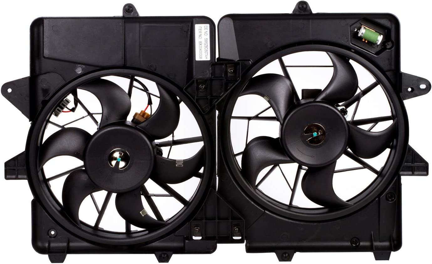 MYSMOT Engine/Radiator Cooling Fan Assembly For Ford Escape Hybrid 2005-2012, Mercury Mariner Hybrid 2006-2011 5M6Z8C607AH