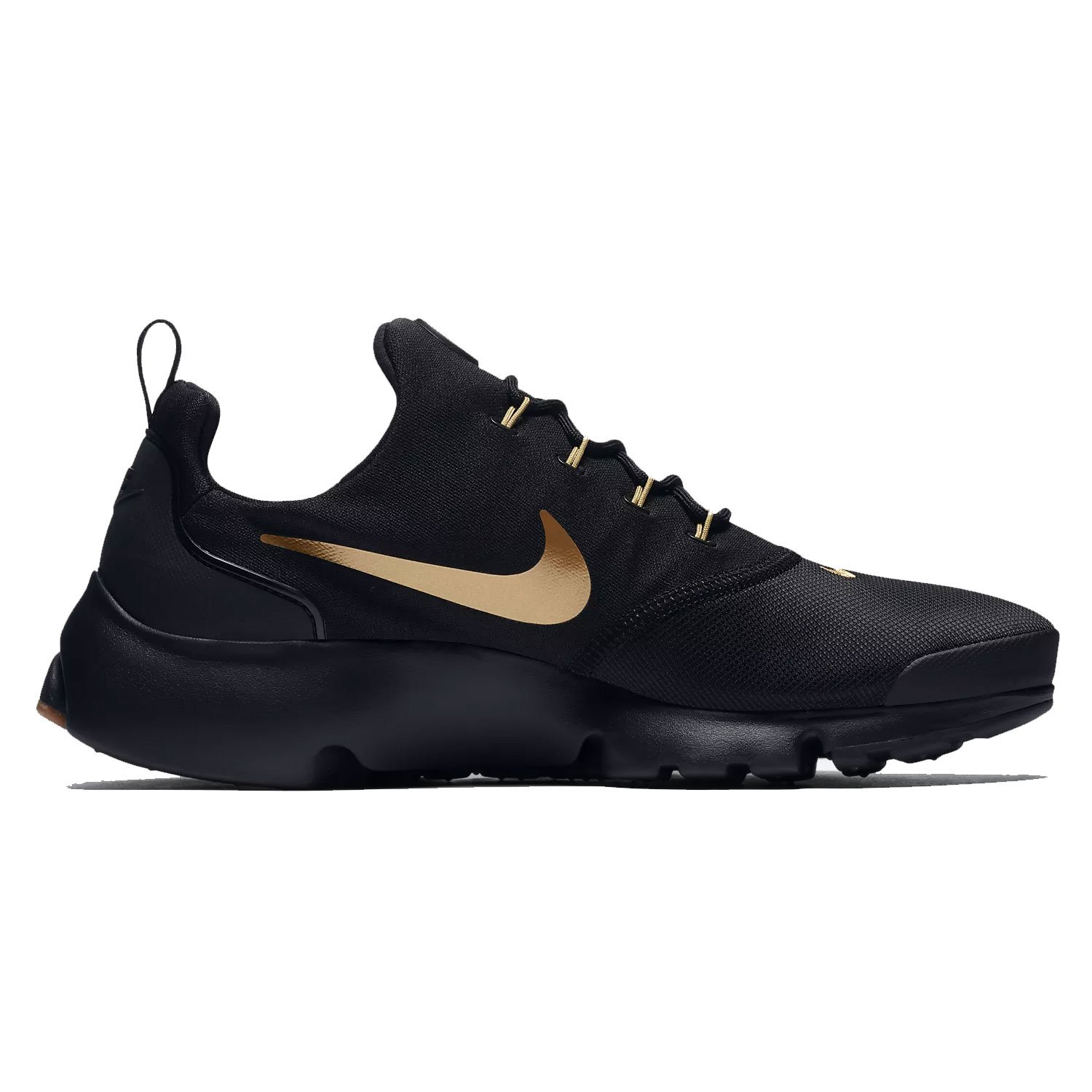 huge selection of a9a58 36ac4 Nike Mens Presto Fly Running Shoes Black Metallic Gold Gum 908019-010 Size  10  Buy Online at Low Prices in India - Amazon.in