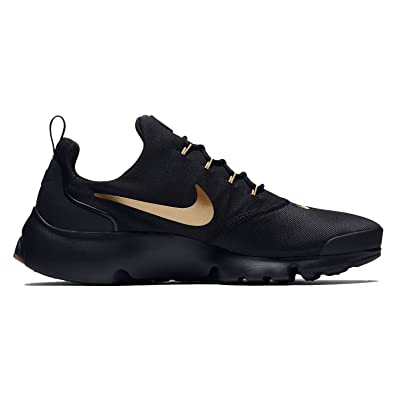 huge selection of 82076 b22d5 Nike Mens Presto Fly Running Shoes Black Metallic Gold Gum 908019-010 Size  10  Buy Online at Low Prices in India - Amazon.in