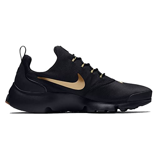 a950e1bbb67 Nike Mens Presto Fly Running Shoes Black Metallic Gold Gum 908019-010 Size  10  Buy Online at Low Prices in India - Amazon.in