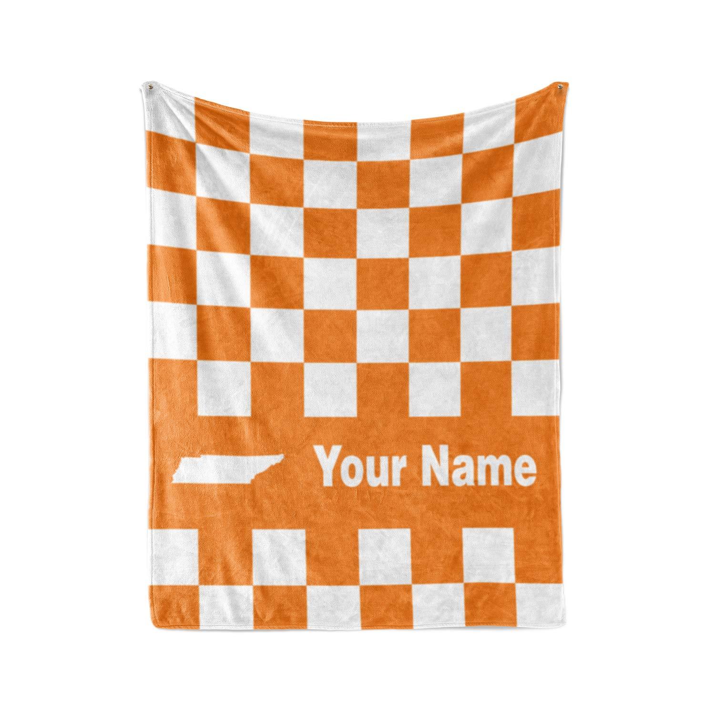 Personalized Corner University of Tennessee Volunteers Themed Custom Fleece Throw Blanket - Volunteer College Football Apparel for Men Women Kids (Child 50''x60'')