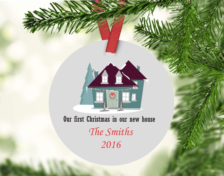 Amazon.com: Dozili First Christmas in Our New Home Christmas ...