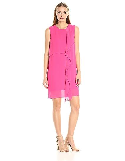 667701b8daa French Connection womens71HBNJames Sheer Dress Sleeveless Dress - Pink - 4