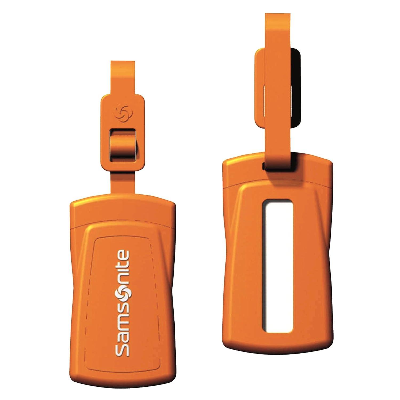 amazon com samsonite security id luggage tag set of 2 neon
