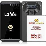 LG V20 Battery Case, ZeroLemon LG V20 10000mAh TriCell Extended Battery with Soft TPU Full Edge Protection Case - Black