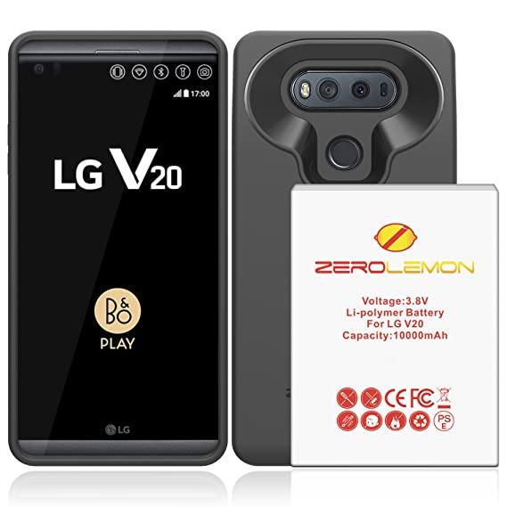 on sale b1d4c fa8e7 Amazon.com: LG V20 Battery Case, ZeroLemon LG V20 10000mAh TriCell ...