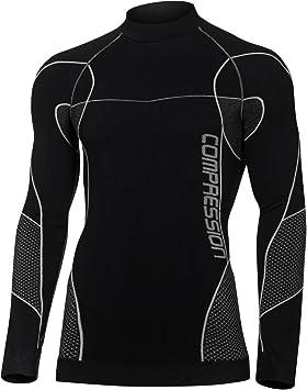 Ropa interior de compresión para hombre Media térmica Ropa interior transpirable Camiseta