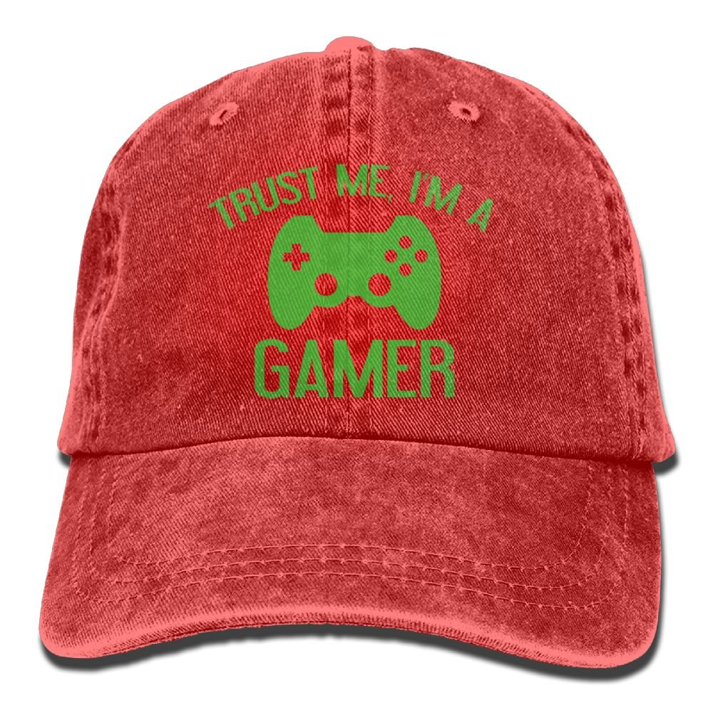 Arsmt Trust Me, I'm A Gamer Denim Hat Adjustable Unisex Snapback Baseball Hats