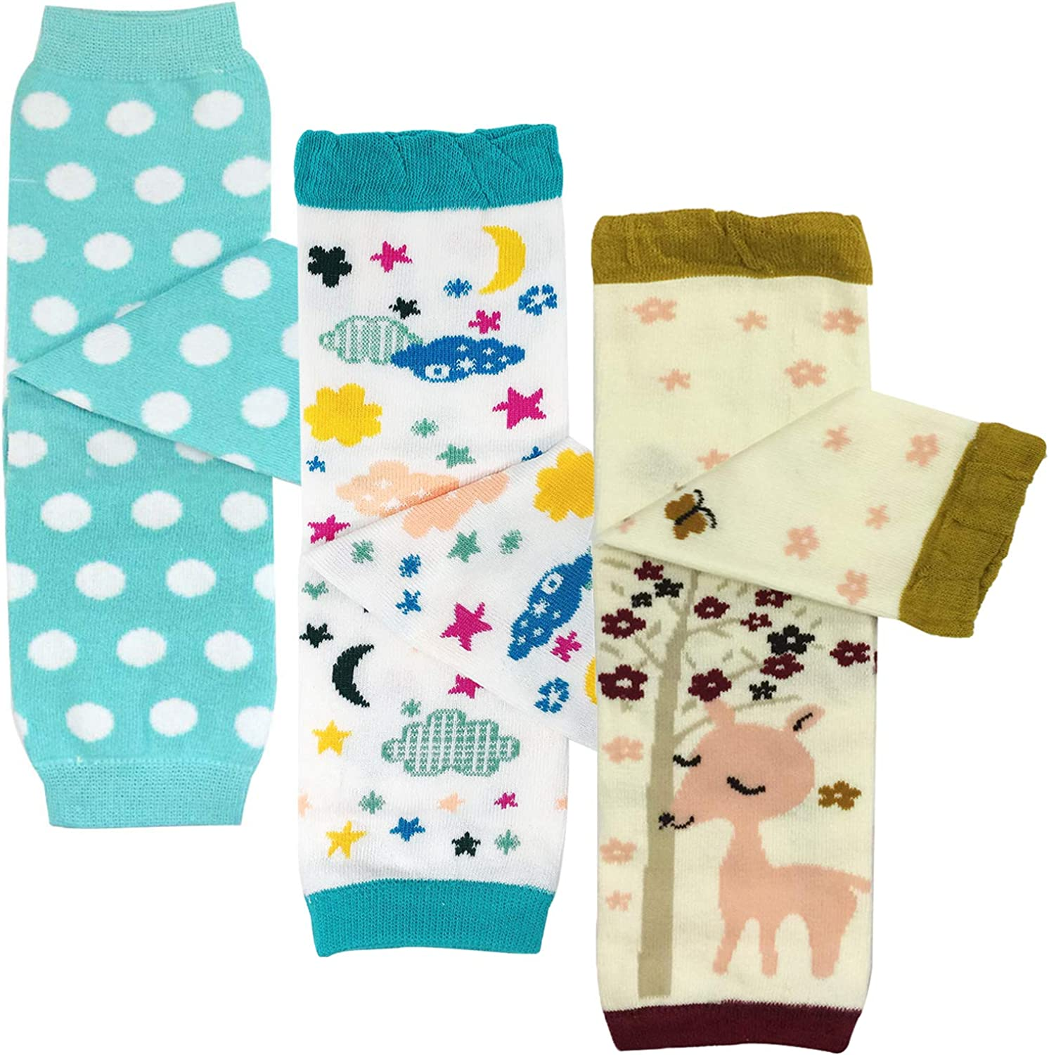 Set of 3 allydrew Playful Patterns Baby /& Toddler Leg Warmers