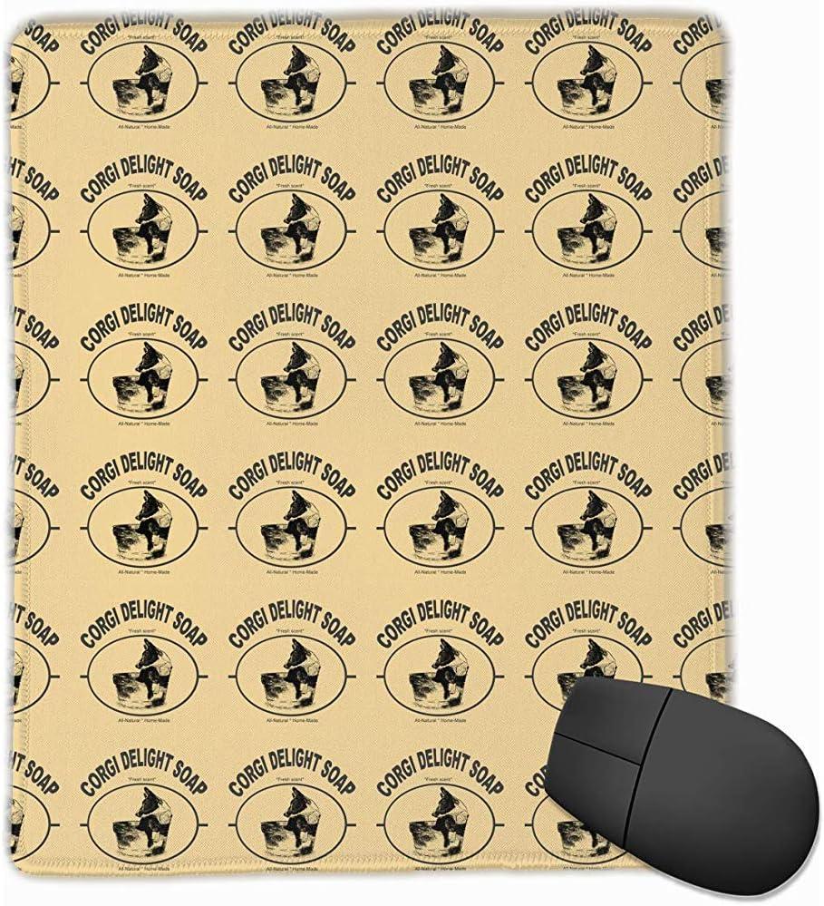 Madi Alfombrilla de ratón Corgi Delight Soap Gaming Alfombrilla de ratón Diseño Personalizado Antideslizante