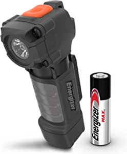 Energizer Pocket Sized LED Flashlights, IPX4 Water Resistant, Impact Resistant Small Flashlight, Extremely Durable, Clip on Light, 1 AA Battery Included