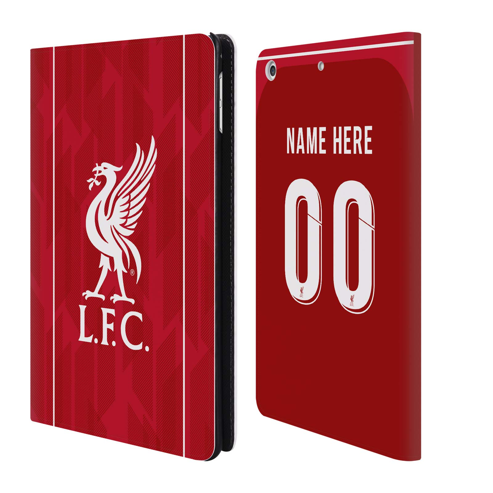 Custom Customized Personalized Liverpool Football Club Home Kit 2018/19 PU Leather Book Wallet Case Cover for iPad Mini 4