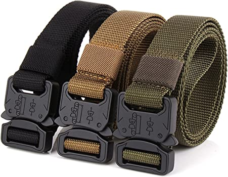 1 Inch Wide Mens Skinny Tactical Blet with Quick Release Metal Buckle for Jeans