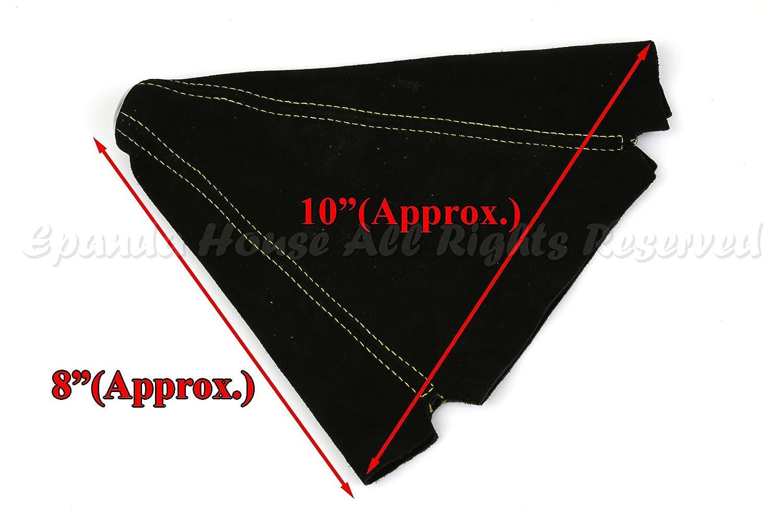 Black Suede Alcantara Shift Boot Replacement Upgrade Yellow Stitch DIY USA EpandaHouse Made for Acura Honda