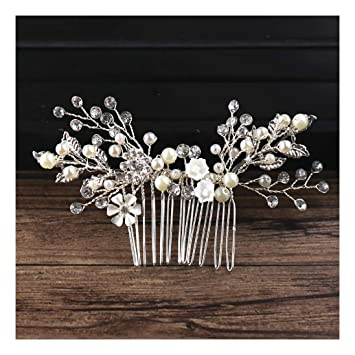 Amazon Com Sienna693 Imitation Pearl Rhinestones Flower Hair Comb