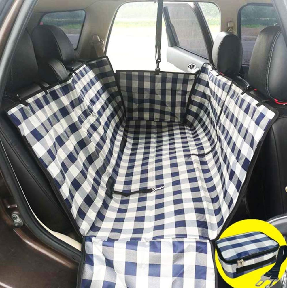 Dog Car Seat Covers Washable Predector with Side Flaps Waterproof Scratch Proof Nonslip Back Seat Cover Dog Send Storage Bag and Safety Rope