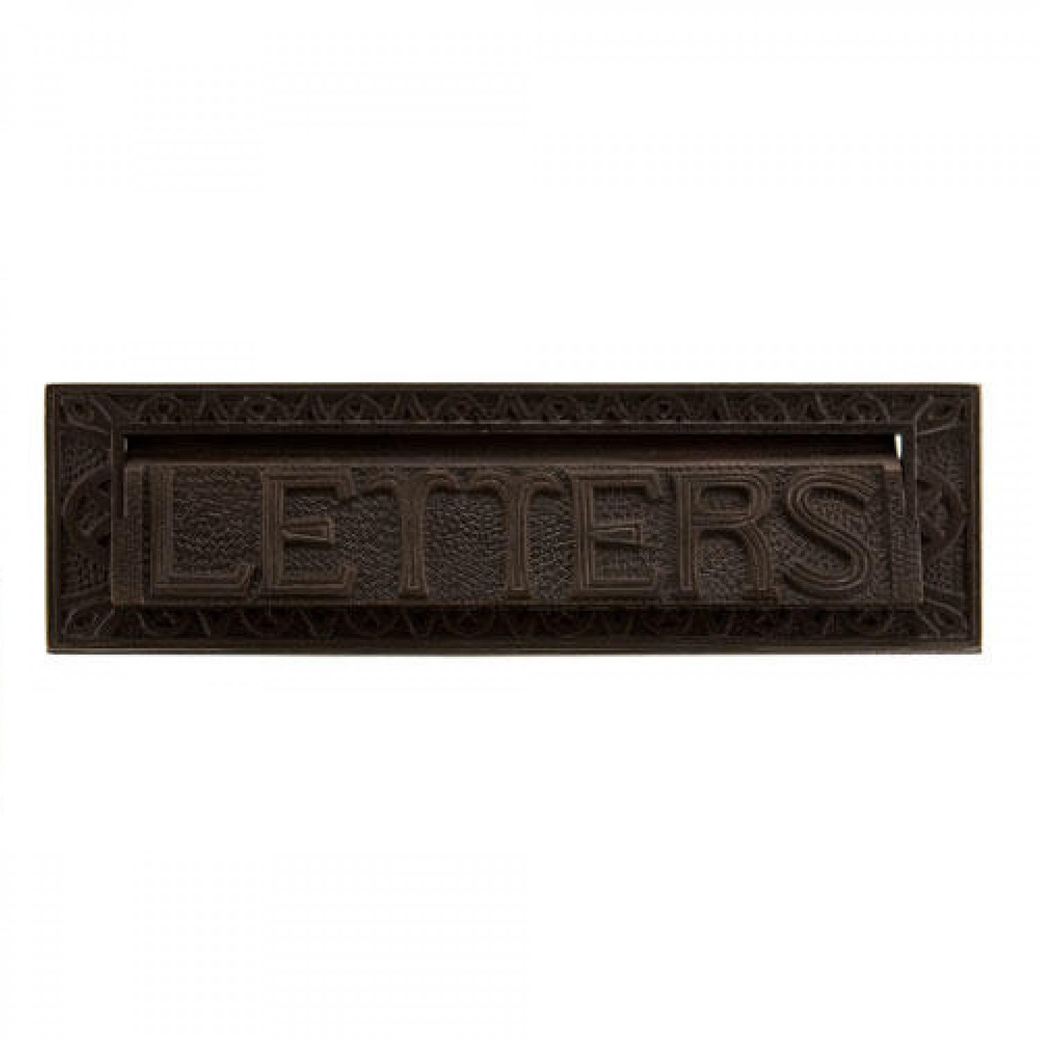 Naiture 13'' Heavy Duty''Mail'' Letter Slot in Bronze Patina Finish