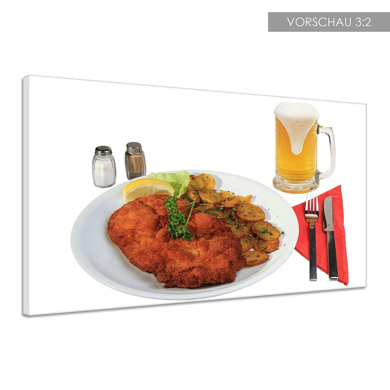 Amazon.de: Schnitzel Paniertes Fleisch Mittag Kartoffeln Leinwand ...